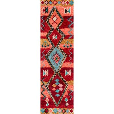 Monroeville Hand-Tufted Red Area Rug Rug Size: Runner 23 x 8