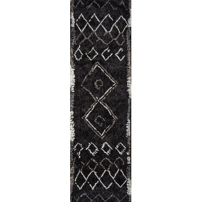 Monmouth Hand-Tufted Black Area Rug Rug Size: Rectangle 50 x 76
