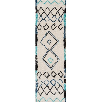Monroeville Hand-Tufted Ivory Area Rug Rug Size: Runner 23 x 8