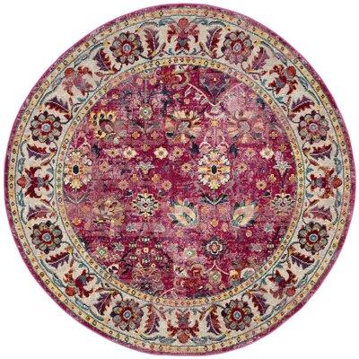 Mcintosh Violet Area Rug� Rug Size: Round 7'