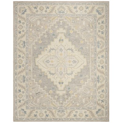 Nichole Hand Tufted Wool Beige Area Rug Rug Size: Rectangle 8 x 10