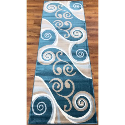 Selimi Blue/Beige Area Rug Runner