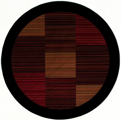 Judlaph Black/Brown Area Rug Rug Size: Round 53
