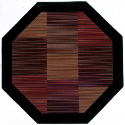 Judlaph Black/Brown Area Rug Rug Size: Octagon 710