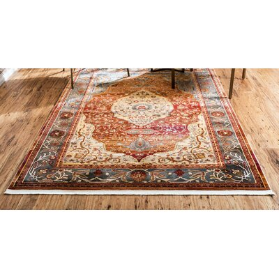 San Marcos Rust Red Area Rug Rug Size: Rectangle 55 x 8