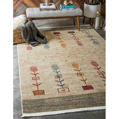 Rolling Hills Estates Rustic Cream Area Rug Rug Size: Rectangle 82 x 10