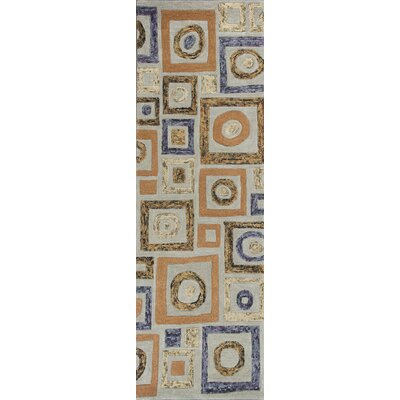 Roosendaal Cityscape Blue Area Rug Rug Size: Runner 26 x 8