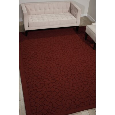 Downridge Hand-Loomed Brick Area Rug Rug Size: Rectangle 36 x 56
