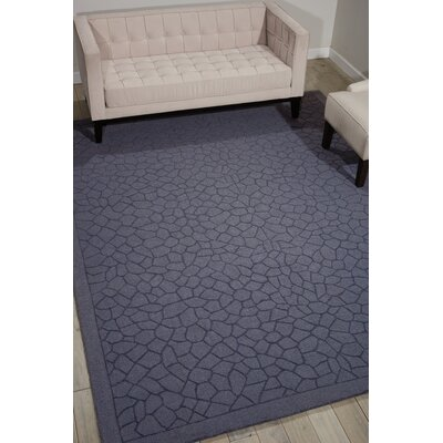 Downridge Hand-Loomed Lagoon Area Rug Rug Size: Rectangle 53 x 74