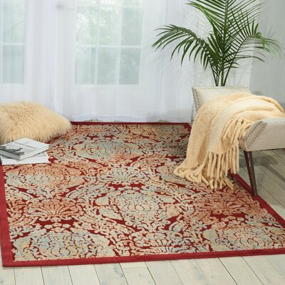 Driftwood Red Area Rug Rug Size: Rectangle 53 x 75