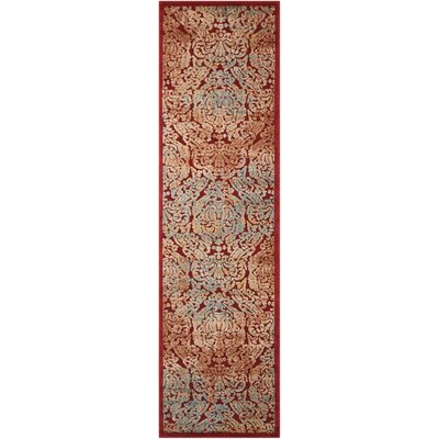 Driftwood Red Area Rug Rug Size: Runner 23 x 8