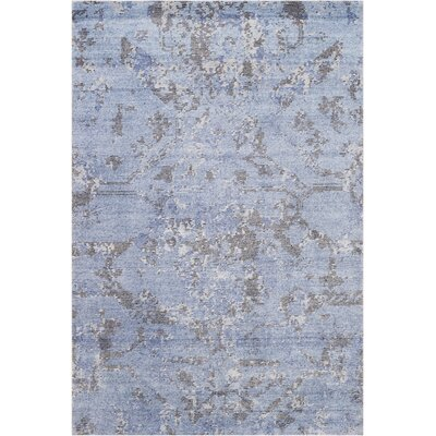 Culbreth Hand-Knotted Sky Gray Area Rug Rug Size: Rectangle�39 x 59