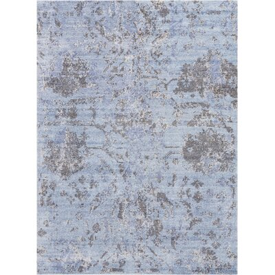 Culbreth Hand-Knotted Sky Gray Area Rug Rug Size: Rectangle�56 x 76