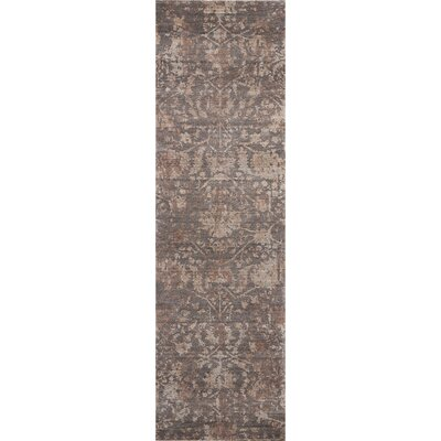 Culbreth Hand-Knotted Flint Area Rug Rug Size: Runner 23 x 8