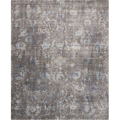 Culbreth Hand-Knotted Dove Area Rug Rug Size: Rectangle�86 x 116