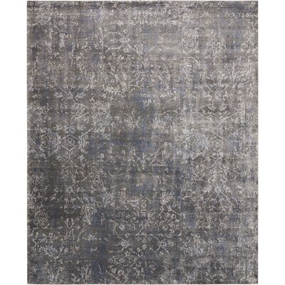 Culbreth Hand-Knotted Coal Area Rug Rug Size: Rectangle�56 x 76