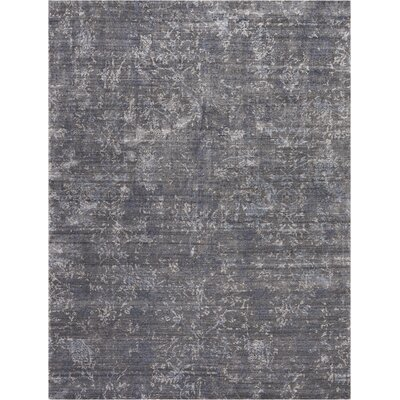 Culbreth Hand-Knotted Coal Area Rug Rug Size: Rectangle�99 x 139