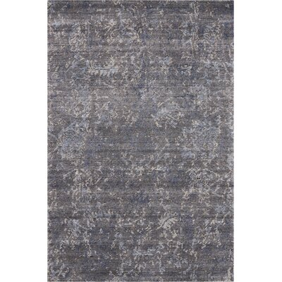 Culbreth Hand-Knotted Coal Area Rug Rug Size: Rectangle�39 x 59