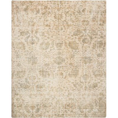 Culbreth Hand-Knotted Pearl Area Rug Rug Size: Rectangle�39 x 59