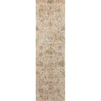 Culbreth Hand-Knotted Pearl Area Rug Rug Size: Runner 23 x 8