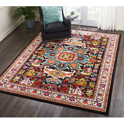 Cullens Black Area Rug Rug Size: Rectangle�710 x 10