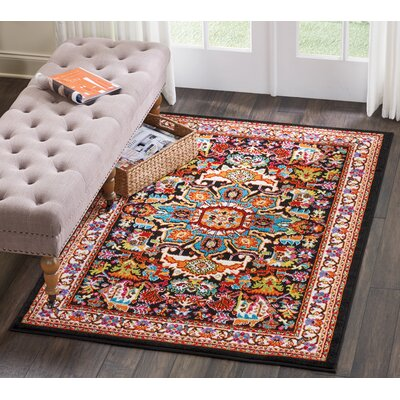 Cullens Black Area Rug Rug Size: Rectangle�4 x 6