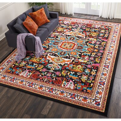 Cullens Black Area Rug Rug Size: Rectangle�92 x 12