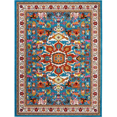 Cullens Blue Area Rug Rug Size: Rectangle�92 x 12