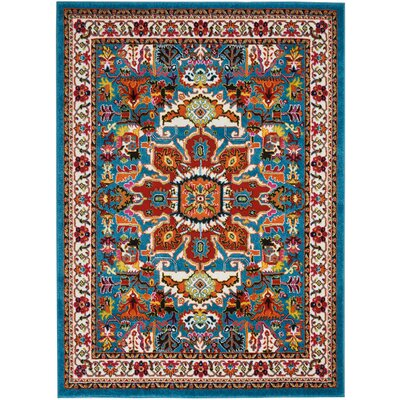 Cullens Blue Area Rug Rug Size: Rectangle�53 x 73