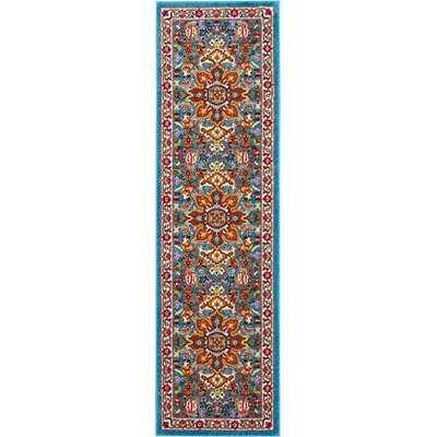 Cullens Blue Area Rug Rug Size: Runner 22 x 76