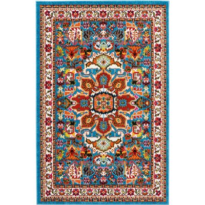Cullens Blue Area Rug Rug Size: Rectangle�4 x 6