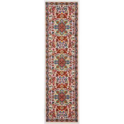 Cullens Ivory Area Rug Rug Size: Runner 22 x 76