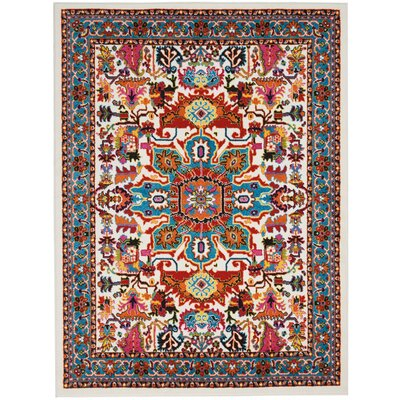 Cullens Ivory Area Rug Rug Size: Rectangle�53 x 73