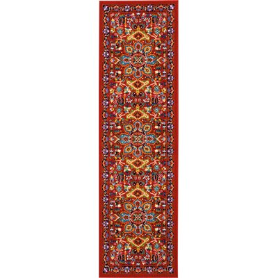 Cullens Red Area Rug Rug Size: Runner 22 x 76