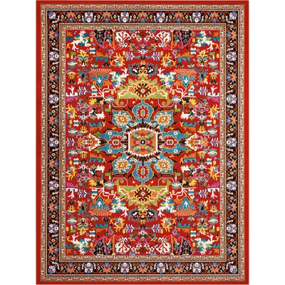 Cullens Red Area Rug Rug Size: Rectangle�92 x 12