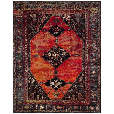 Rangel Orange Area Rug Rug Size: Rectangle 8 x 10