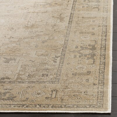Emily Beige Area Rug Rug Size: Rectangle 53 x 76