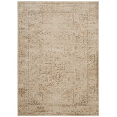 Emily Beige Area Rug Rug Size: Rectangle 4 x 57