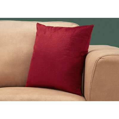 Tarsha Throw Pillow Color: Red