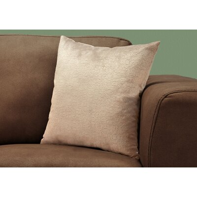 Tarsha Throw Pillow Color: Taupe
