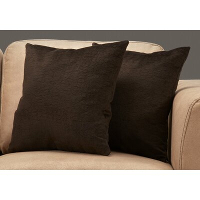 Tarsha Square Throw Pillow Color: Dark Brown