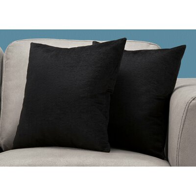 Tarsha Square Throw Pillow Color: Black