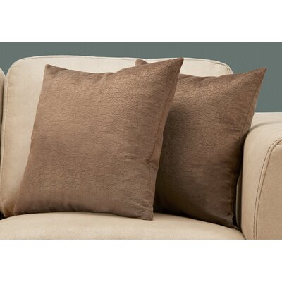 Tarsha Square Throw Pillow Color: Light Brown
