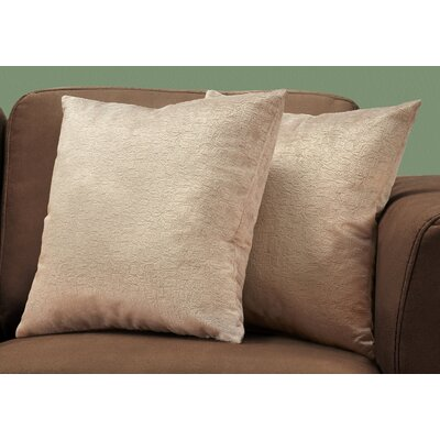 Tarsha Square Throw Pillow Color: Taupe