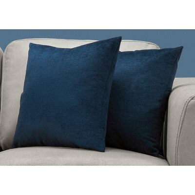 Tarsha Square Throw Pillow Color: Blue