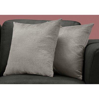 Tarsha Square Throw Pillow Color: Gray