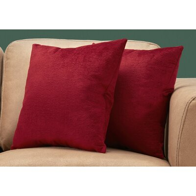 Tarsha Square Throw Pillow Color: Red