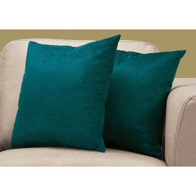 Tarsha Square Throw Pillow Color: Emerald Green