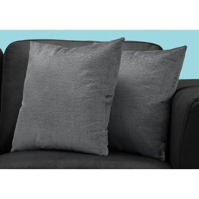 Tarsha Square Throw Pillow Color: Dark Gray