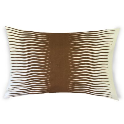 Ursina Geometric Down Filled 100% Cotton Lumbar Pillow Color: Bronze